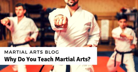Why Do You Teach Martial Arts?