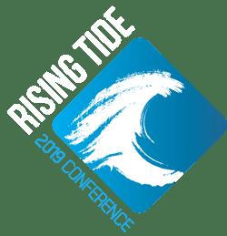 Rising Tide logo Drk Bkg Blue